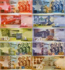 Ghana Cedi Banknotes